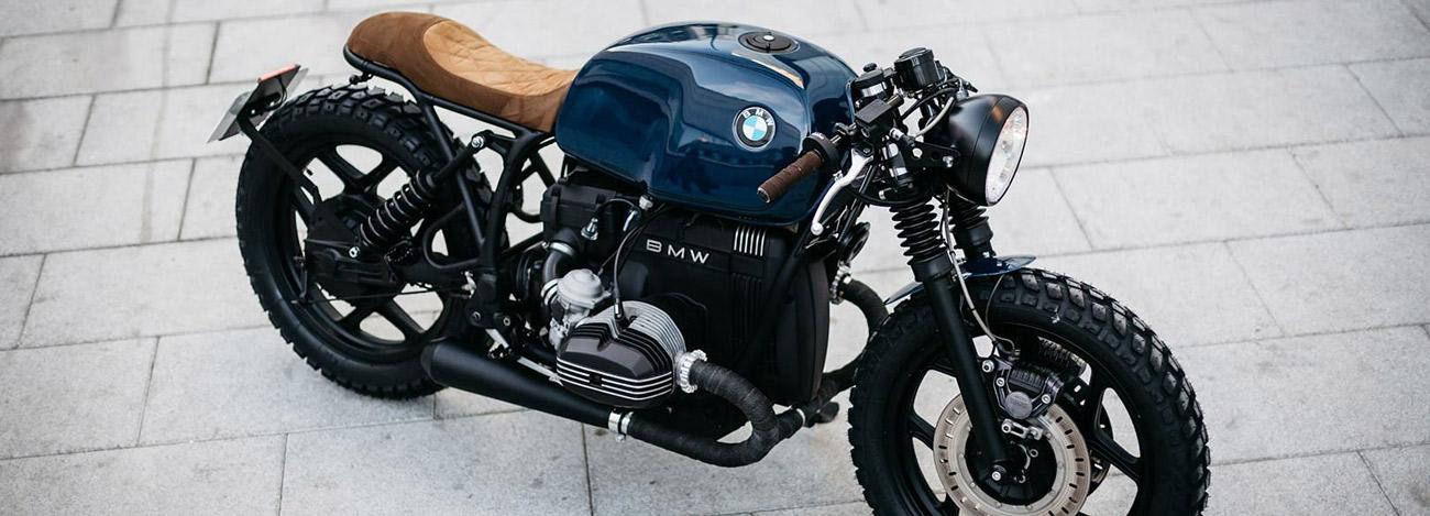 Roa motorcycles pr sente sa bmw r80 custom caf racer for Garage bmw moto aix en provence