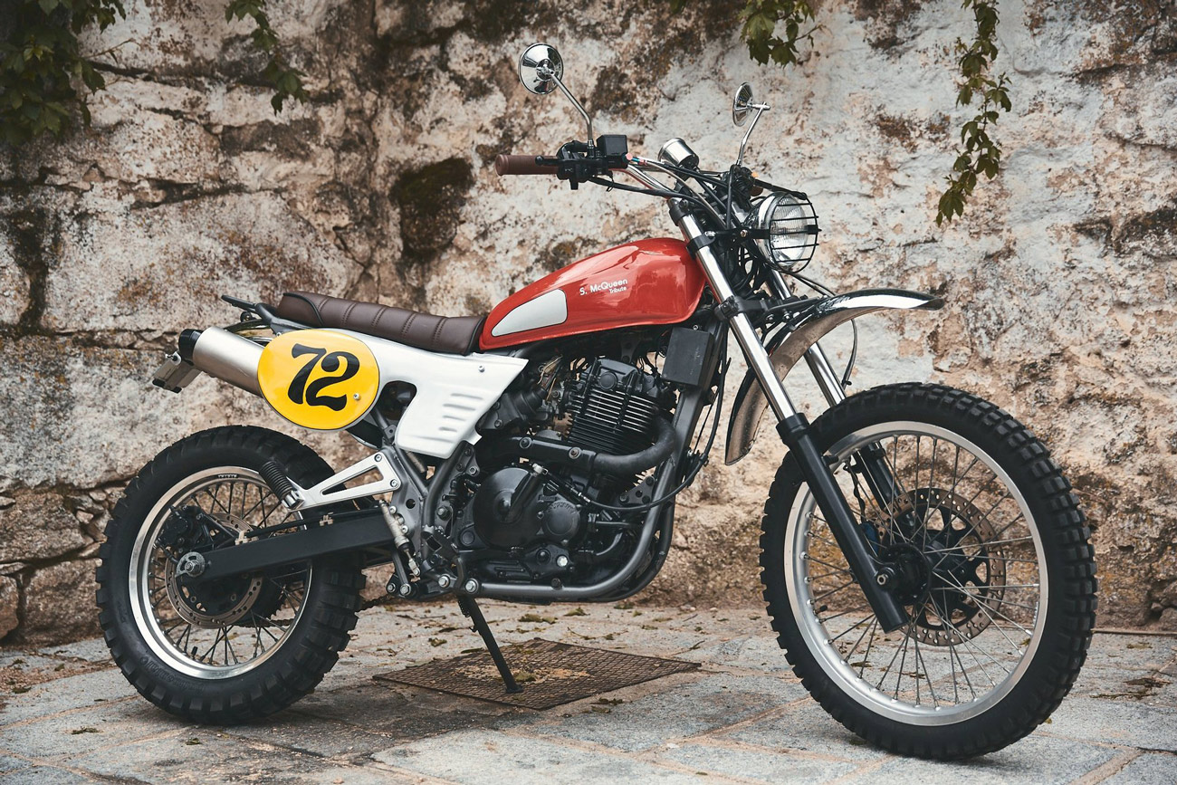 La Husqvarna 400 Cross de Steve McQueen revisitée par 72 Cycles Performance