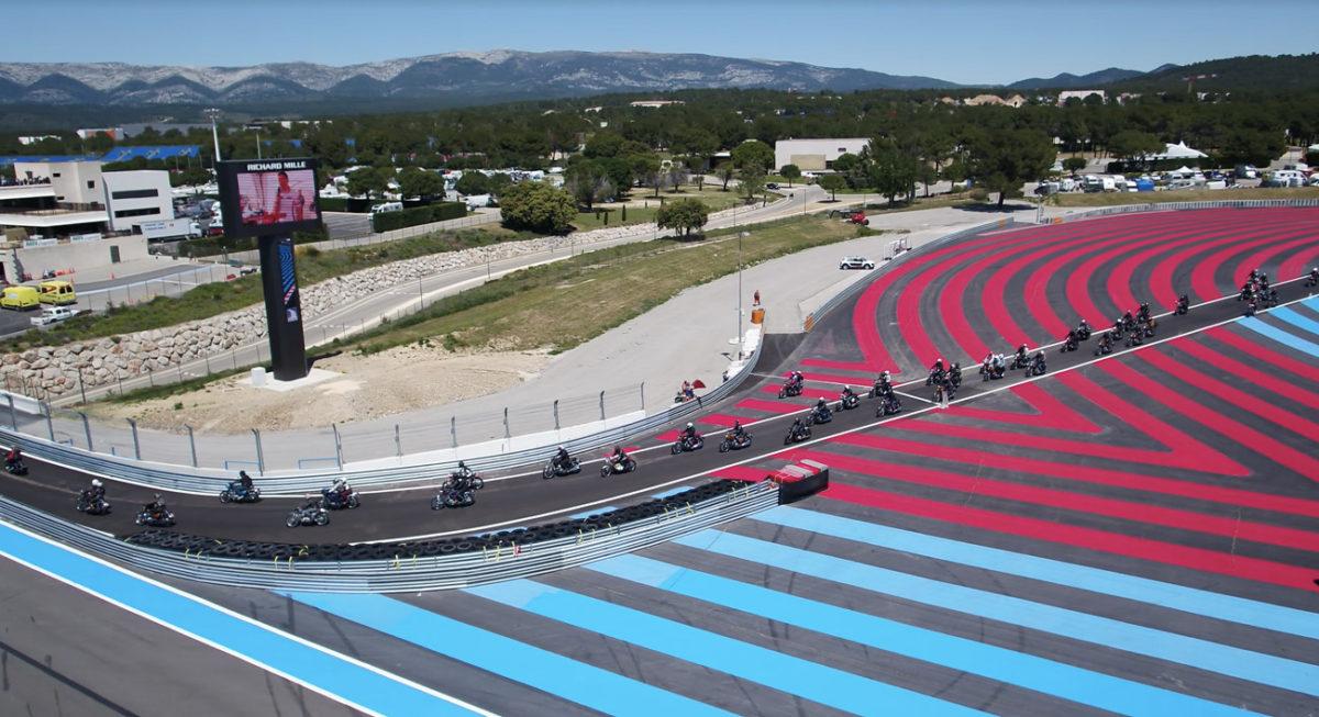 Plus de 250 Honda CB 750 se rejoignent sur le circuit Paul Ricard